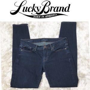 Lucky Brand Charlie Skinny Dark Denim Jean sz 6